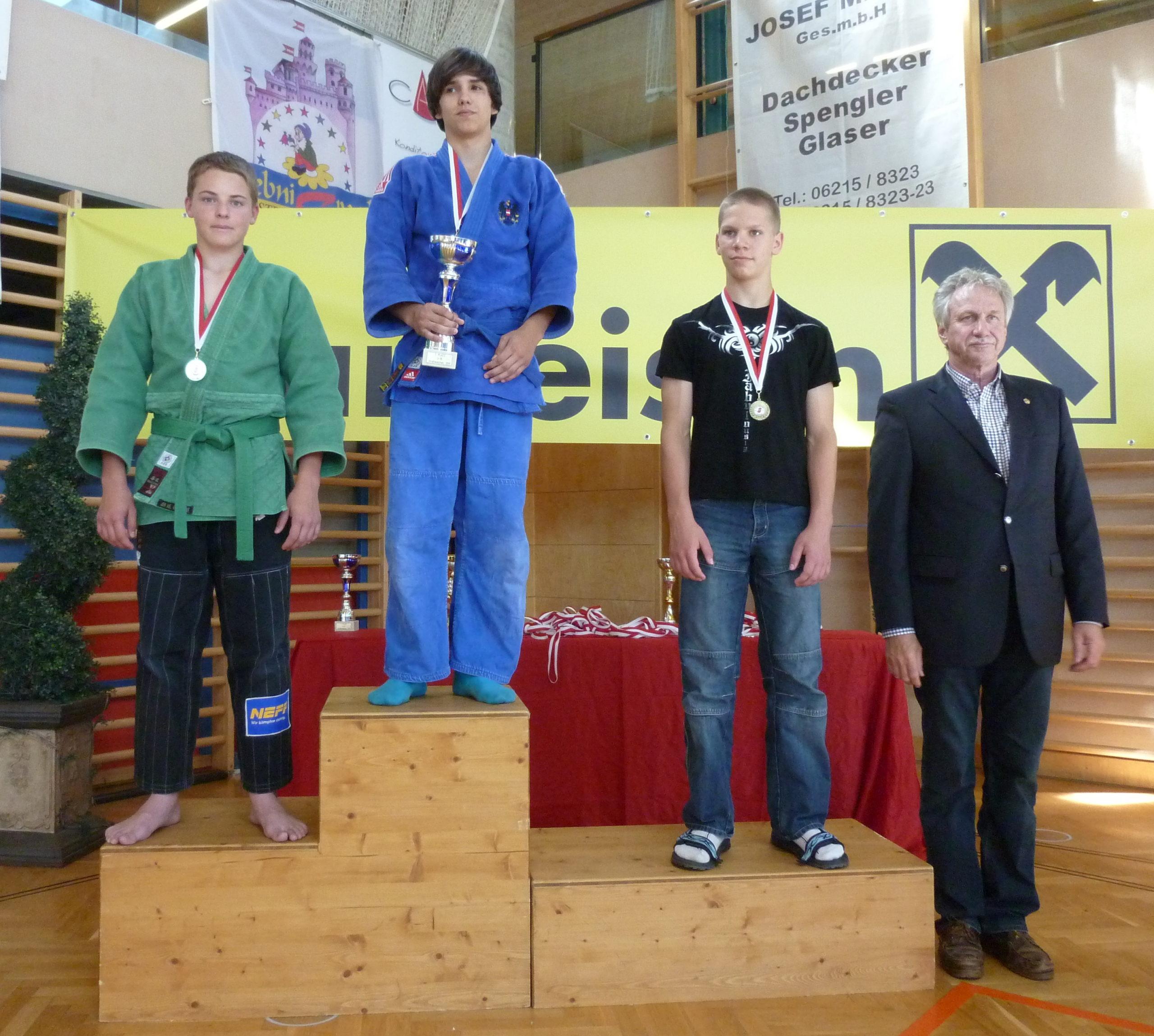 Platz 2 für Florian Holziner (U15, -66)